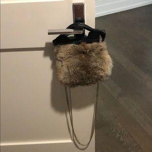 Foley and Corinna Genuine Fur Purse